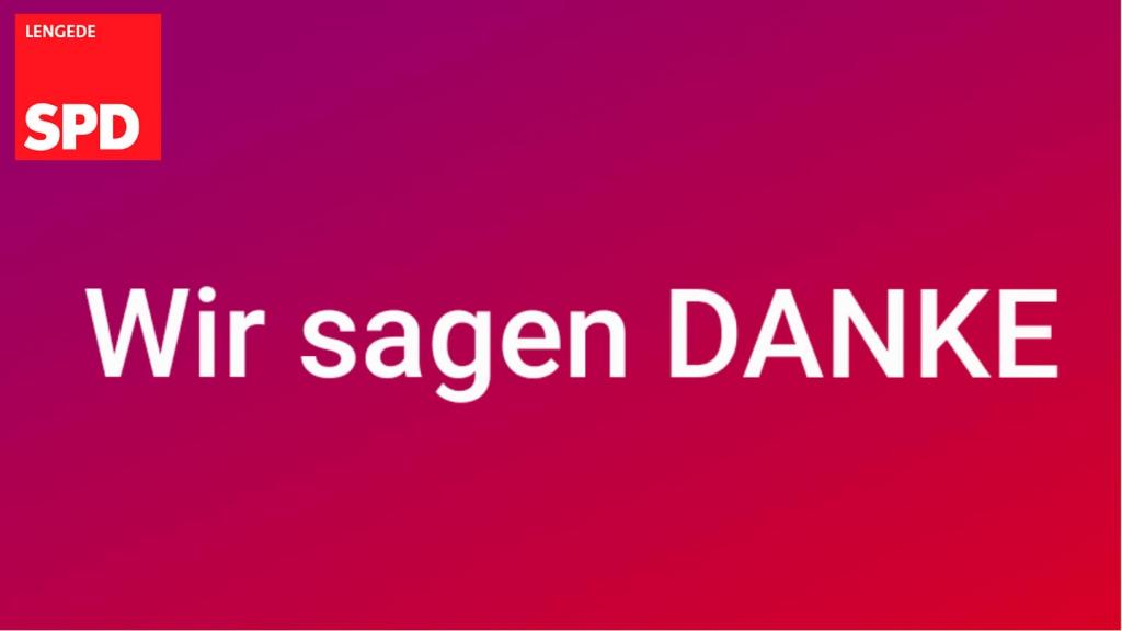 SPD Lengede sagt DANKE